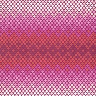 Tissu patchwork Tula Pink - Mosaïque magenta - Eden