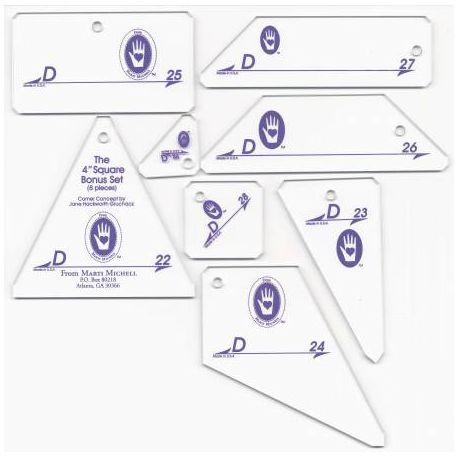 Set D - Gabarits pour patchwork de Marti Michell