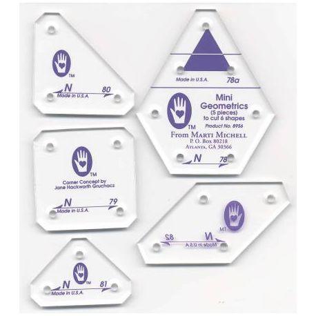 Mini géométriques Set N - Gabarits pour patchwork de Marti Michell