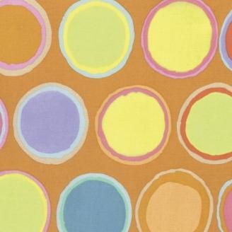 Tissu patchwork Kaffe Fassett - Pots de peintures fond orange - Artisan