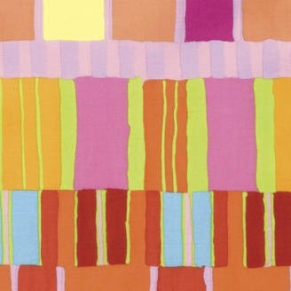 Tissu patchwork Kaffe Fassett - Rayures oranges et roses - Artisan