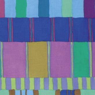 Tissu patchwork Kaffe Fassett - Rayures bleues et vertes - Artisan