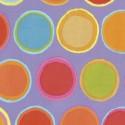 Tissu patchwork Kaffe Fassett - Pots de peintures multico fond mauve - Artisan