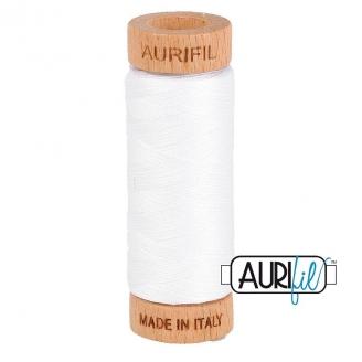 Fil de coton Mako 80 Aurifil - Blanc 2024
