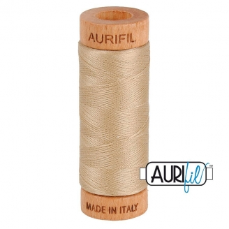Fil de coton Mako 80 Aurifil - Beige doré 2312