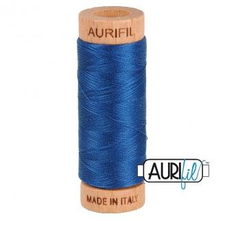 Fil de coton Mako 80 Aurifil - Bleu royal 2783