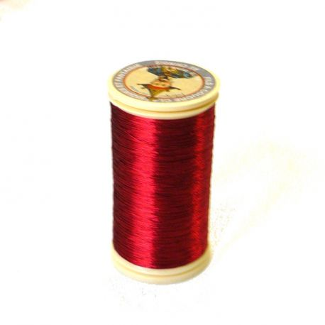Fil métallisé n°40 Au Chinois - Rouge 210