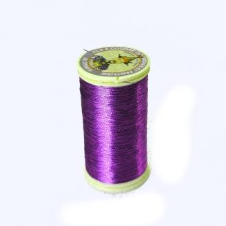 Fil métallisé n°40 Au Chinois - Violet 155