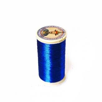 Fil métallisé n°40 Au Chinois - Bleu dur 240