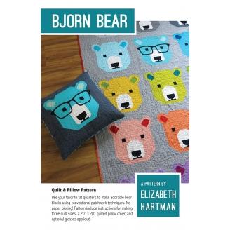 L'Ours Bjorn - Modèle de patchwork d'Elizabeth Hartman