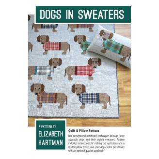 Les Teckels - Modèle de patchwork d'Elizabeth Hartman