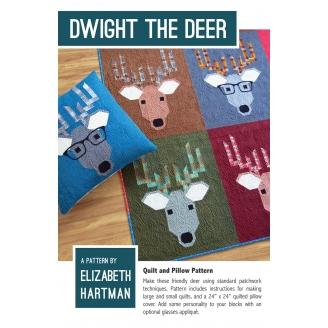 Dwight le cerf - Modèle de patchwork d'Elizabeth Hartman