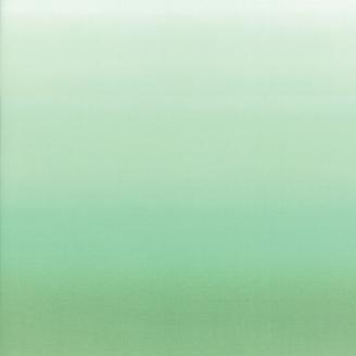 Tissu imprimé dégradé menthe à l'eau (hauteur photo = 55 cm)