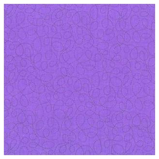 Tissu patchwork entrelacs fond violet