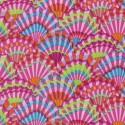 Tissu patchwork Kaffe Fassett - éventails roses (Paper fans GP143)