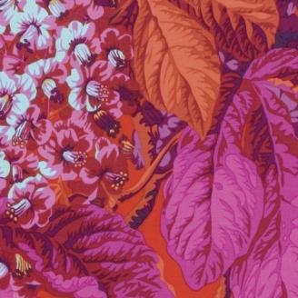Tissu patchwork Philip Jacobs - Feuilles de marronier fuchsia (Horse chestnut PJ084)