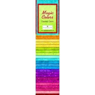 Jelly Roll de tissus basiques arc-en-ciel - Magic colors Essential Gems