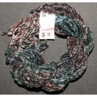 Chenille de soie turquoise vert 20