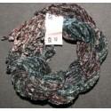 Chenille de soie bordeaux gris 03