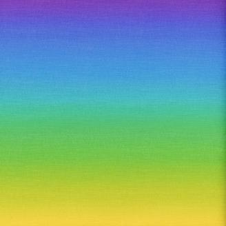 Tissu imprimé dégradé vert/bleu/violet - Gelato