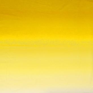 Tissu imprimé de circonvolutions en dégradé jaune citron - Transitions