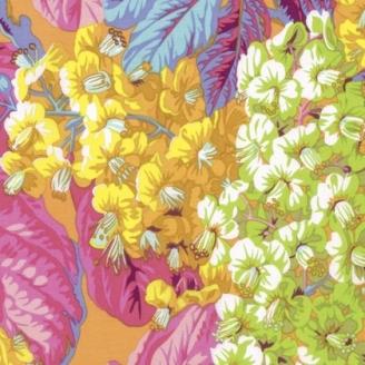 Tissu patchwork Philip Jacobs - Feuilles de marronnier jaune (Horse chestnut PJ084)