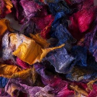 Silk Flats & Curls, rouleaux de soie - Anémone