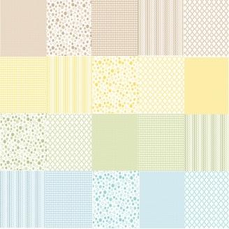 Jelly Roll de petits imprimés pastel - Sorbets