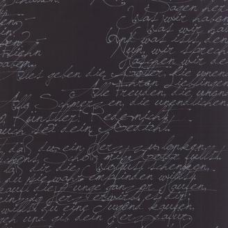 Tissu imprimé écritures grises fond noir - Modern BackgroundInk de Moda