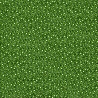 Tissu patchwork minis baies fond vert
