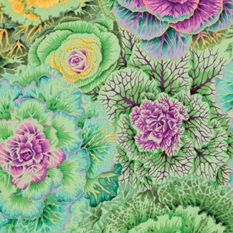 Tissu Philip Jacobs choux vert tendre Brassica PJ51