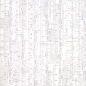 Tissu patchwork partition de musique gris clair fond écru - Compositions de Basic Grey
