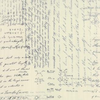 Tissu imprimé écritures manuscrites noires fond écru - Modern Background Paper de Moda