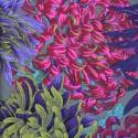 Tissu Philip Jacobs chrysanthèmes violets PJ41 Antique (fond gris)