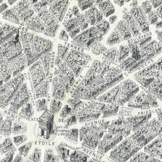 Tissu patchwork plan de Paris rétro