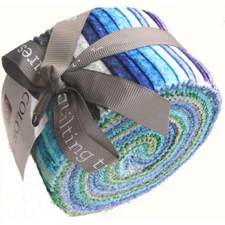 Jelly Roll de tissus faux-unis Color Blends - couleurs froides