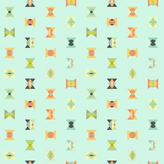 Tissu patchwork Tula Pink - sabliers fantaisie fond vert menthe givrée - Spirit Animal