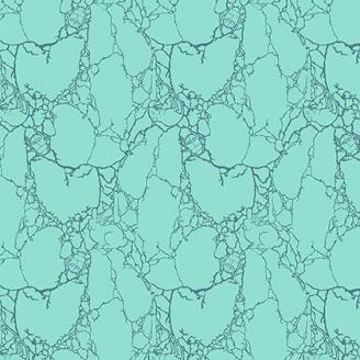 Tissu patchwork Tula Pink - créatures de pierre fond vert - Spirit Animal