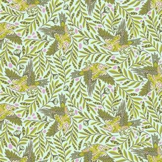 Tissu patchwork Tula Pink - oiseaux en vol fond bleu ciel - Spirit Animal