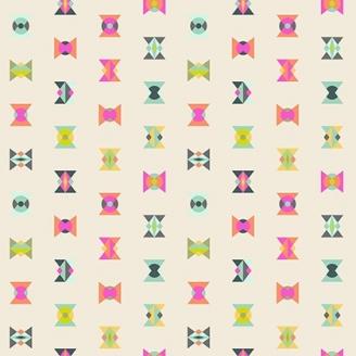 Tissu patchwork Tula Pink - sabliers fantaisie fond écru - Spirit Animal