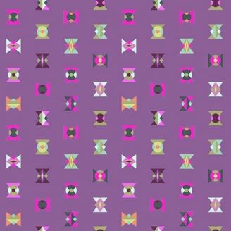 Tissu patchwork Tula Pink - sabliers fantaisie fond violet - Spirit Animal