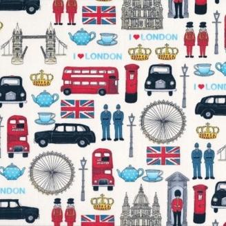 Tissu patchwork Monuments de Londres