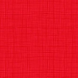 Tissu imprimé Rouge passion effet tissage