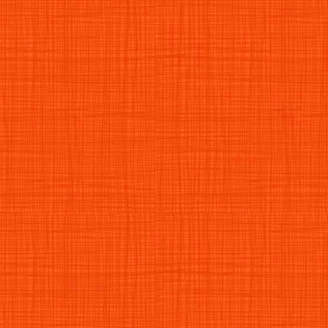 Tissu imprimé Orange Citrouille effet tissage