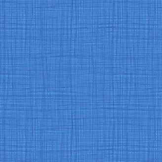 Tissu imprimé bleu Riviera effet tissage