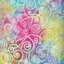 Tissu batik tourbillons multicolores