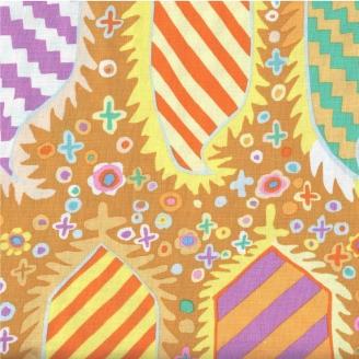 Tissu patchwork Striped heraldic coloris or