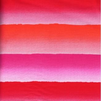Tissu patchwork Bandes de couleurs rose,fushsia