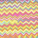 Tissu patchwork Multicolore jaune ZigZag