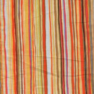 Tissu patchwork Rayure multicolore